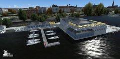SimDocks.de Alster 3D Scenery Ruderclub Allemannia1866