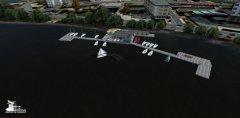 SimDocks.de Alster 3D Scenery Alster Kajüte